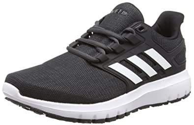 5ef68186060 adidas Energy Cloud 2 Mens Neutral Running Trainer Shoe Black White - US 10