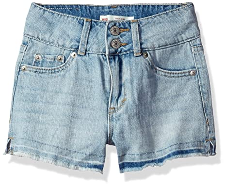 11d47b082a Amazon.com: Levi's Girls' High Rise Denim Shorty Short: Clothing