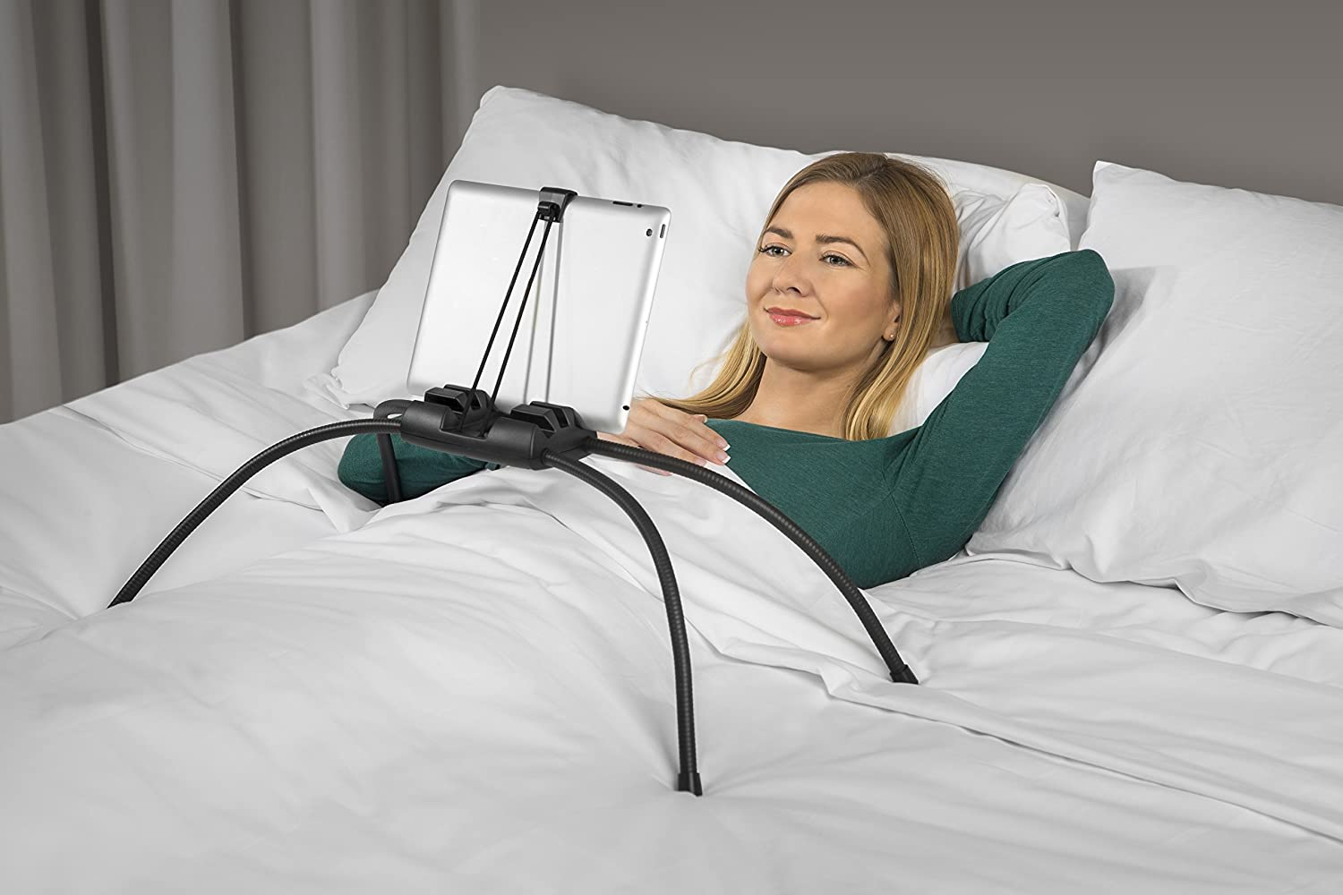 Amazon.com: Tablift Tablet Stand for the Bed, Sofa, or Any Uneven Surface -  By Nbryte: Computers & Accessories