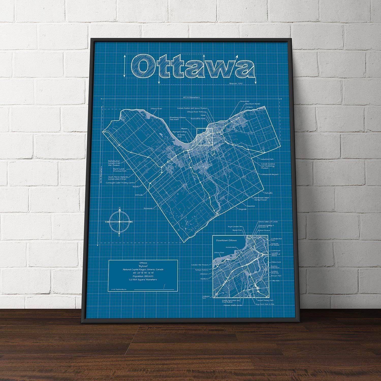 Amazon.com: Ottawa, Canada Map - Blueprint Style: Handmade on niagara falls, map of grande prairie canada, map of us and canada, map of new france canada, map of canada provinces, map of valleyfield canada, map of gaspe canada, map of goose bay canada, map of muskoka canada, map of ontario, nova scotia, quebec city, map of p.e.i. canada, map of cloyne canada, british columbia, map of okanagan valley canada, map of toronto canada, map of canada with cities, map of white rock canada, map of kitchener canada, map of vancouver canada, map of glace bay canada, québec, map of quebec canada, map of washington canada,
