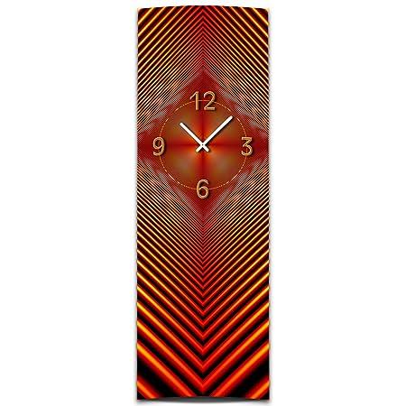 Wall Clock Xxl 3d Vertical Quiet Mechanism Gl Dixtime Abstract Red