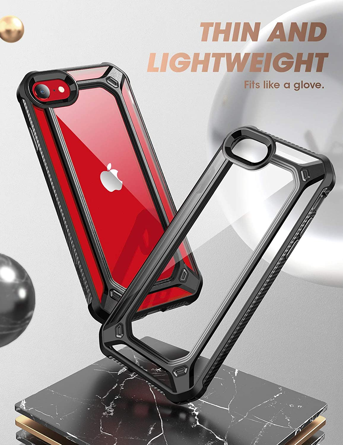 Supcase Exo Series For Iphone Se 2nd Gen 2020 8 7 Clear Bumper Case Thin Cover Ebay