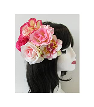 English rose pink flower fascinator headpiece vintage 1950s 40s english rose pink flower fascinator headpiece vintage 1950s 40s rockabilly s41 exclusively sold by starcrossed mightylinksfo