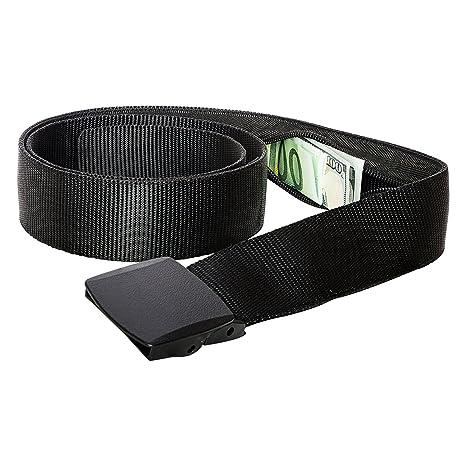 Cinturón de Viaje con Estuche Dinero - Cinturón de Dinero para Viajar  (Black) b8094b317c40