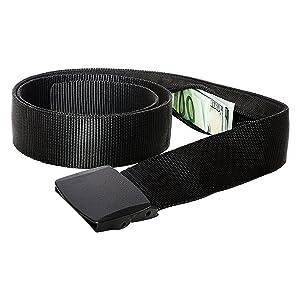 5. Zero Grid Travel Security Belt - Hidden Money Pouch - Non-Metal Buckle