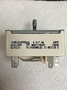 GE Range Burner Switch 164D1816P08 WB24T10029