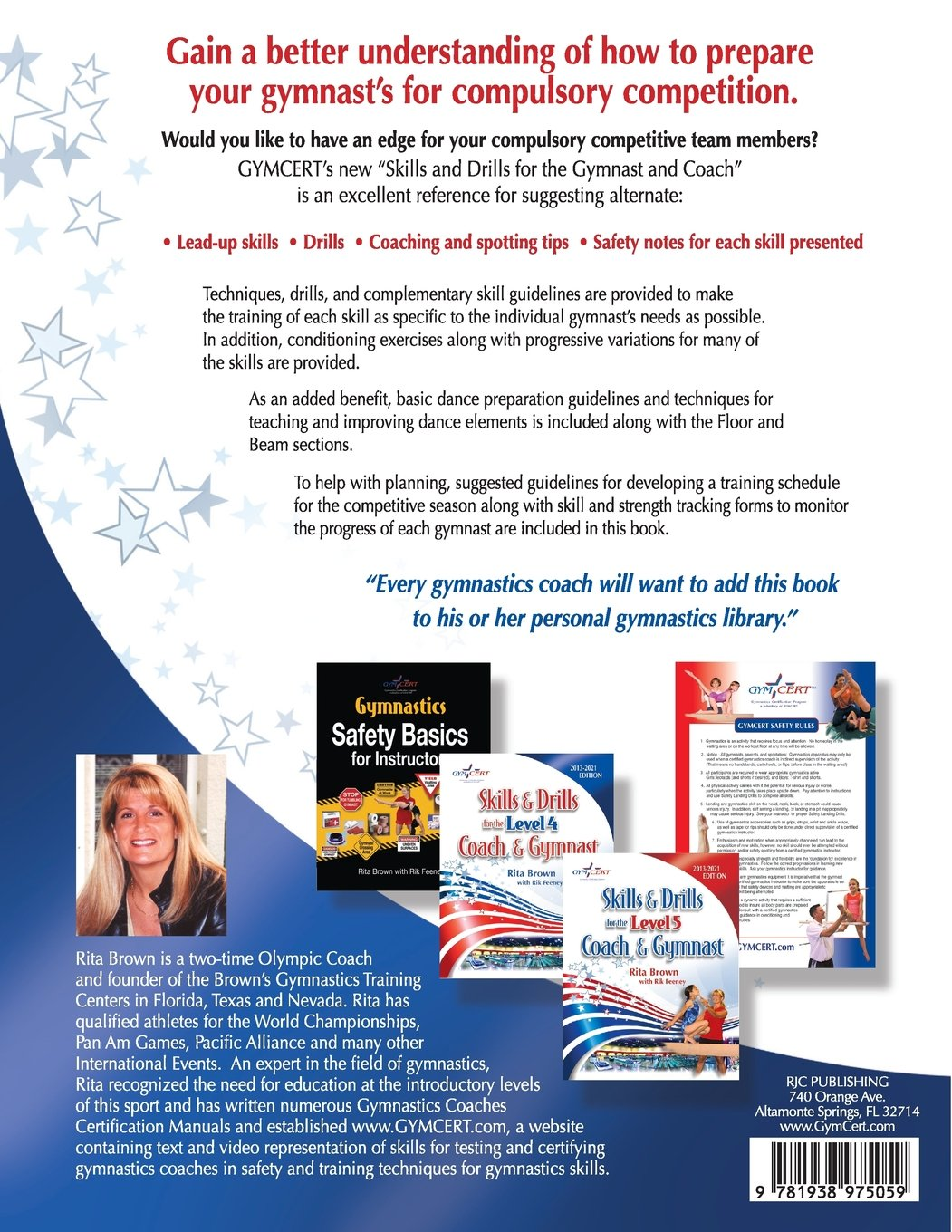 Gymnastics skills drills for the level 1 2 3 coach gymnast gymnastics skills drills for the level 1 2 3 coach gymnast rita brown 9781938975059 amazon books fandeluxe Image collections