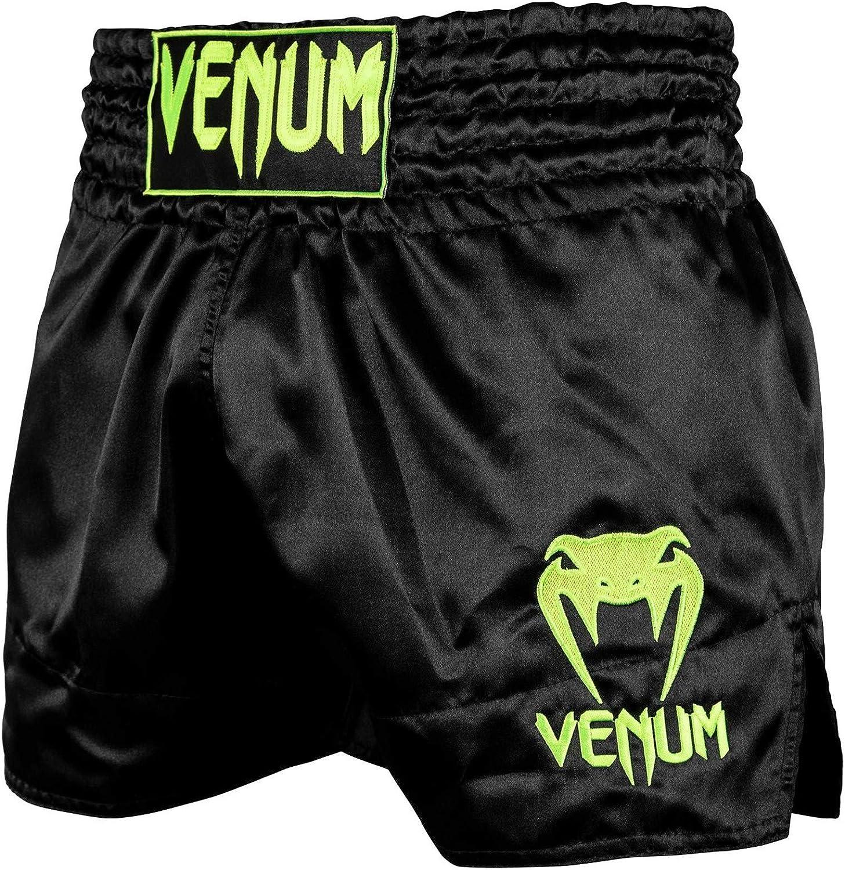 Venum Bangkok Inferno Muay Thai Shorts Black//Neo Yellow