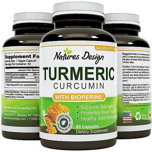 Turmeric Curcumin with Black Pepper Extract 60 Capsules