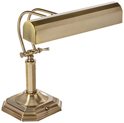 Lite Source Piano Mate Antique Brass Desk Lamp - Lite Source Piano Mate Antique Brass Desk Lamp - - Amazon.com
