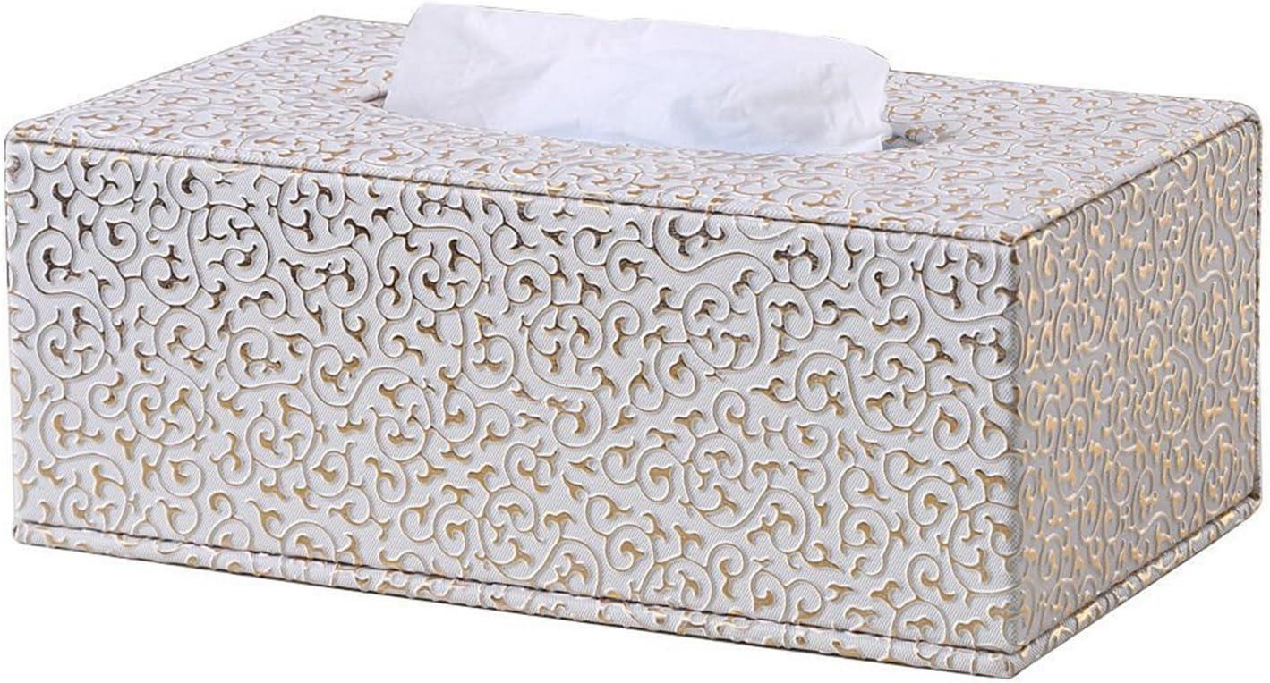 Kingfom rectangular piel sintética caja de pañuelos de papel Servilletero para la oficina en casa, decoración de coche Automotive (Patrón tejido negro): Amazon.es: Oficina y papelería