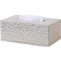 Kingfom rectangular piel sintética caja de pañuelos de papel Servilletero para la oficina en casa,