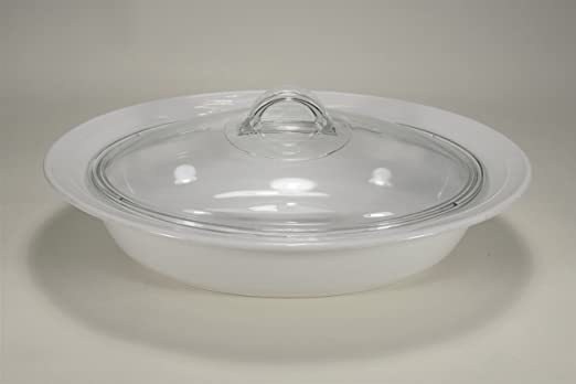 DISH WASHER SAFE 1.5 LITRE MICROWAVE RED ROSE ROUND CASSEROLE WITH GLASS LID