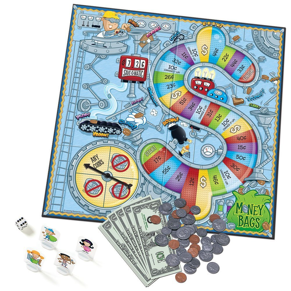 Learning Resources Money Bags Coin Value Game, Money Recognition, Counting Game, Easter Toys, Easter Gifts for Kids, Ages 7+