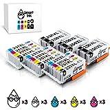 Smart Ink Compatible Ink Cartridge Replacement Canon PGI-250XL PGI 250 XL CLI-251XL CLI 251 XL 18 Pack(6 PGBK & 3 BK/C/M/Y) Works with Canon PIXMA MX922 722 MG5420 5422 5520 5522 5620 6420 6620 7520 6320 7120 IP7220 8720 IX6820