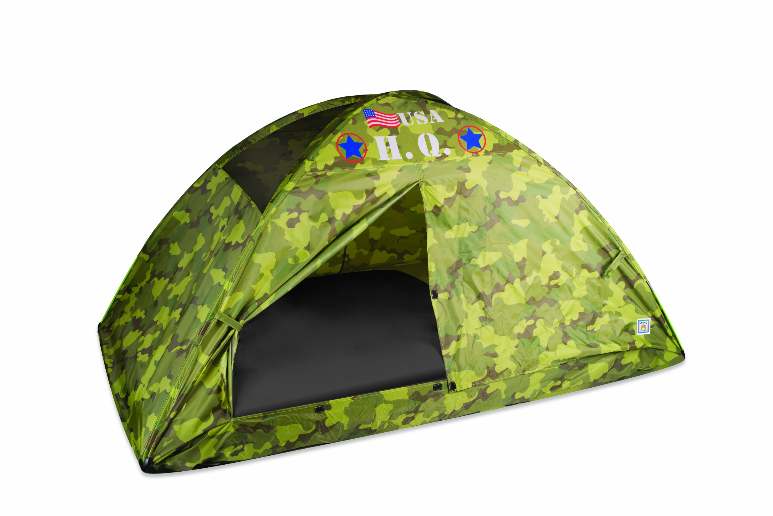 Pacific Play Tents 19780CAMOUFLAGE Kids HQ Camo Bed Tent Playhouse - Twin Size by Pacific Play Tents