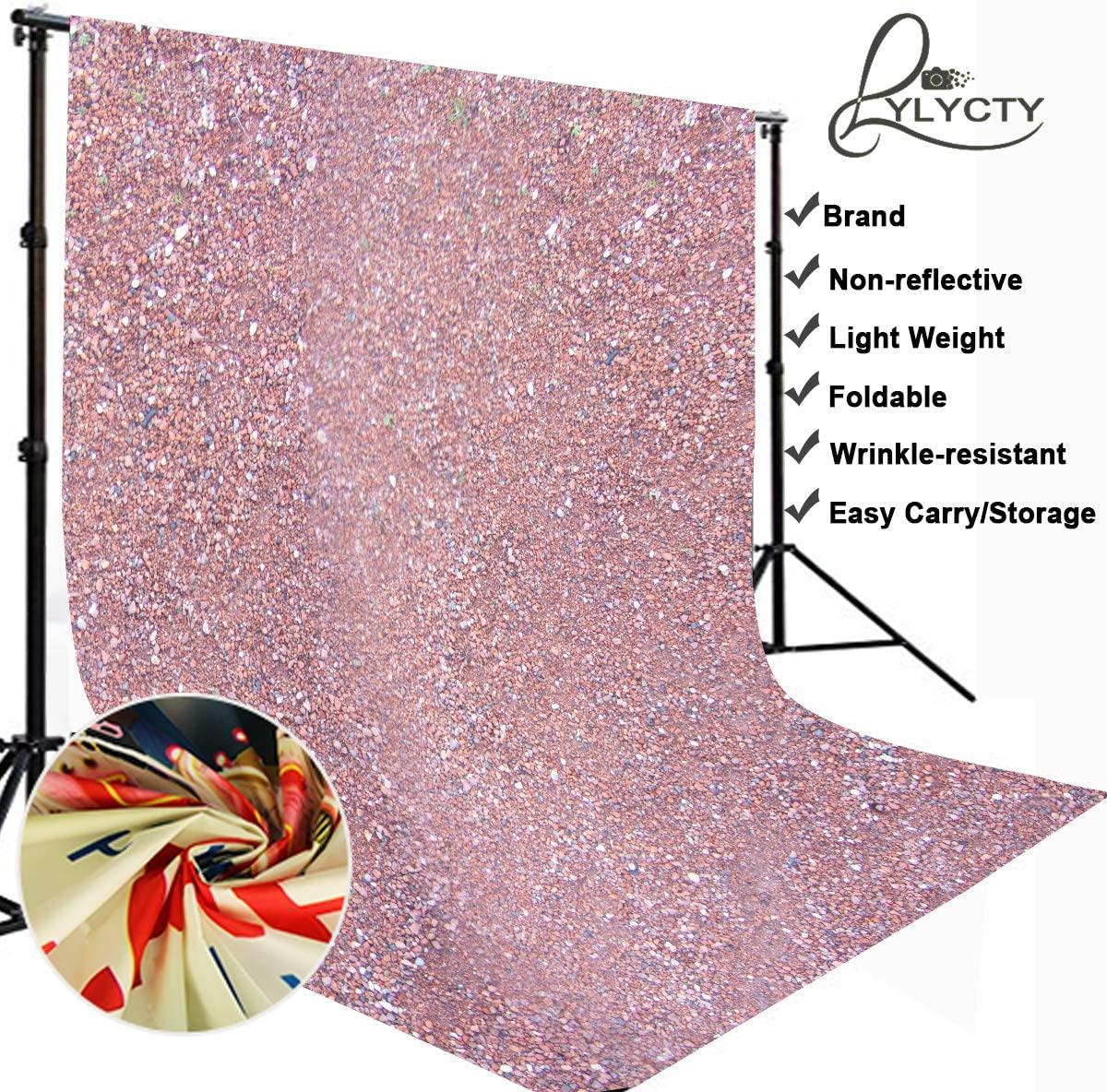 LYLYCTY 10x10 Red Porphyry Backdrop Millennial Pink Baby Newborn Children Party Decorations for Pictures Photography Props LY189