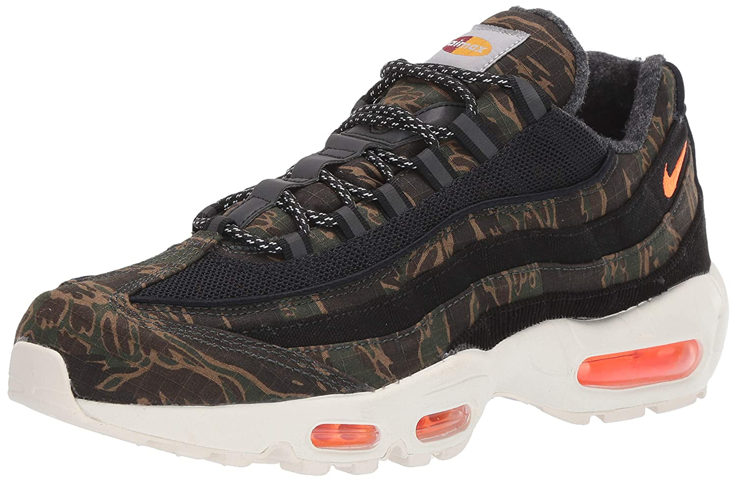 MultiCouleure (noir Total Orange-sail 001) Nike Air Max 95 Wip, Chaussures Multisport Indoor Homme 44 2 3 EU