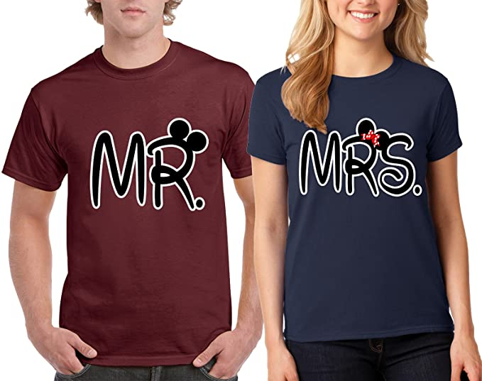 Amazon Com Valentine S Day Special Mr Mrs Funny Couple T Shirts