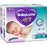 BabyLove Cosifit Nappies, Size 1 (0-5kg), 96 Nappies (2x 48 pack)