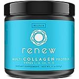 Renew Multi Collagen Protein Powder - 5 Types of Collagen - Hydrolyzed Grass-Fed Bovine, Marine, Chicken and Egg…