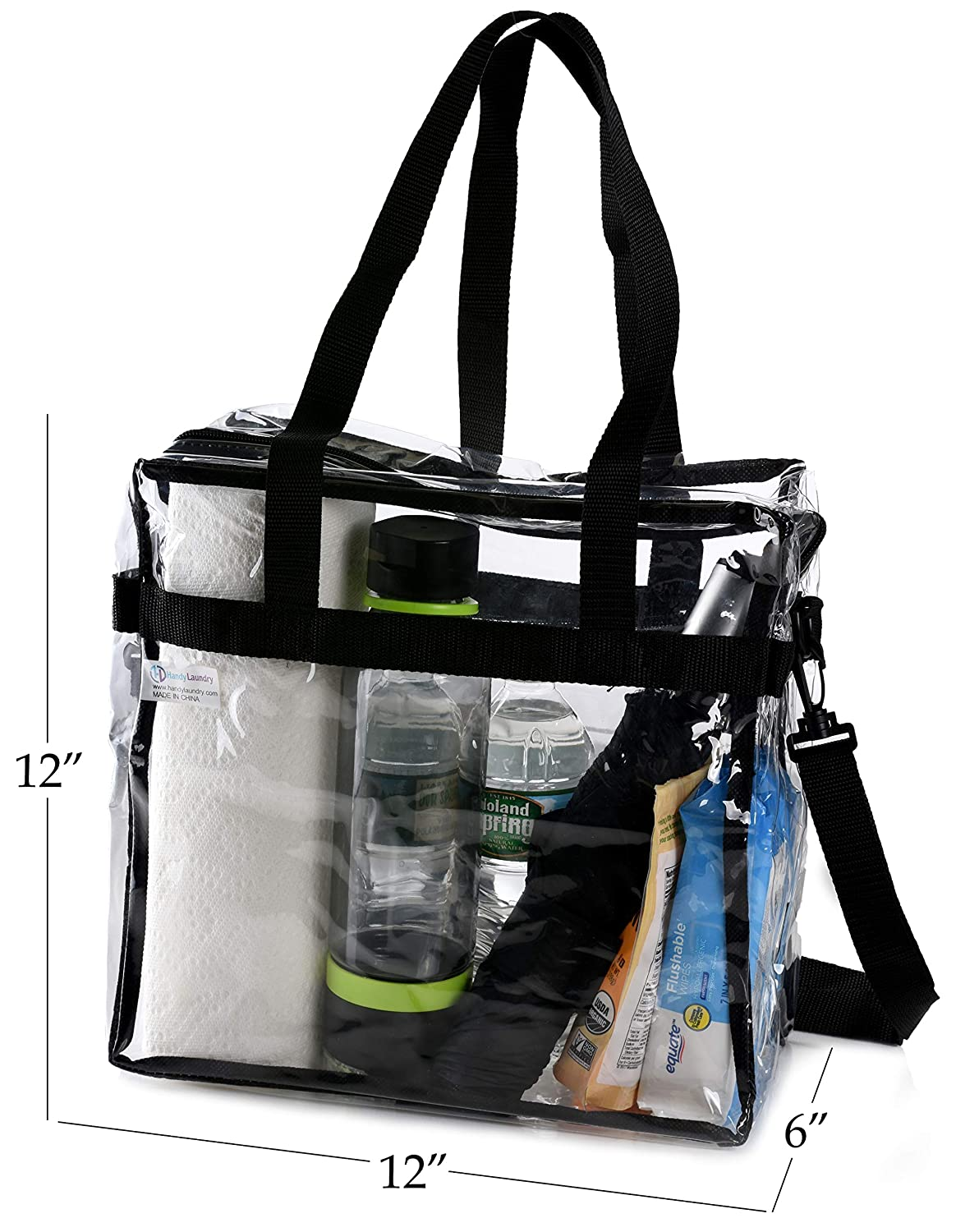 ffb9aa018f8 Amazon.com : Clear Tote Bag NFL Stadium Approved - 12