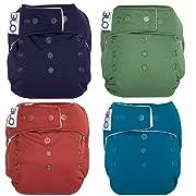 GroVia O.N.E. Reusable Baby Cloth Diaper - 4 Pack (Color Mix 1)