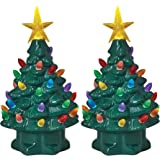"Mr. Christmas 17397 7"" Nostalgic Trees, Set of 2 7"" Nostalgic Trees, Green"