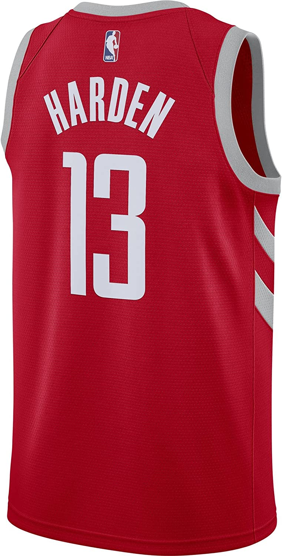 Nike Mens Houston Rockets James Harden Red Dri Fit Swingman Jersey