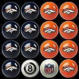 NFL Denver Broncos Billiards Ball Set