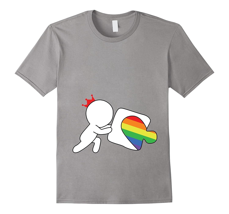 Matching Couples T-shirt ,My Heart Gay Lesbian LGBT Tee