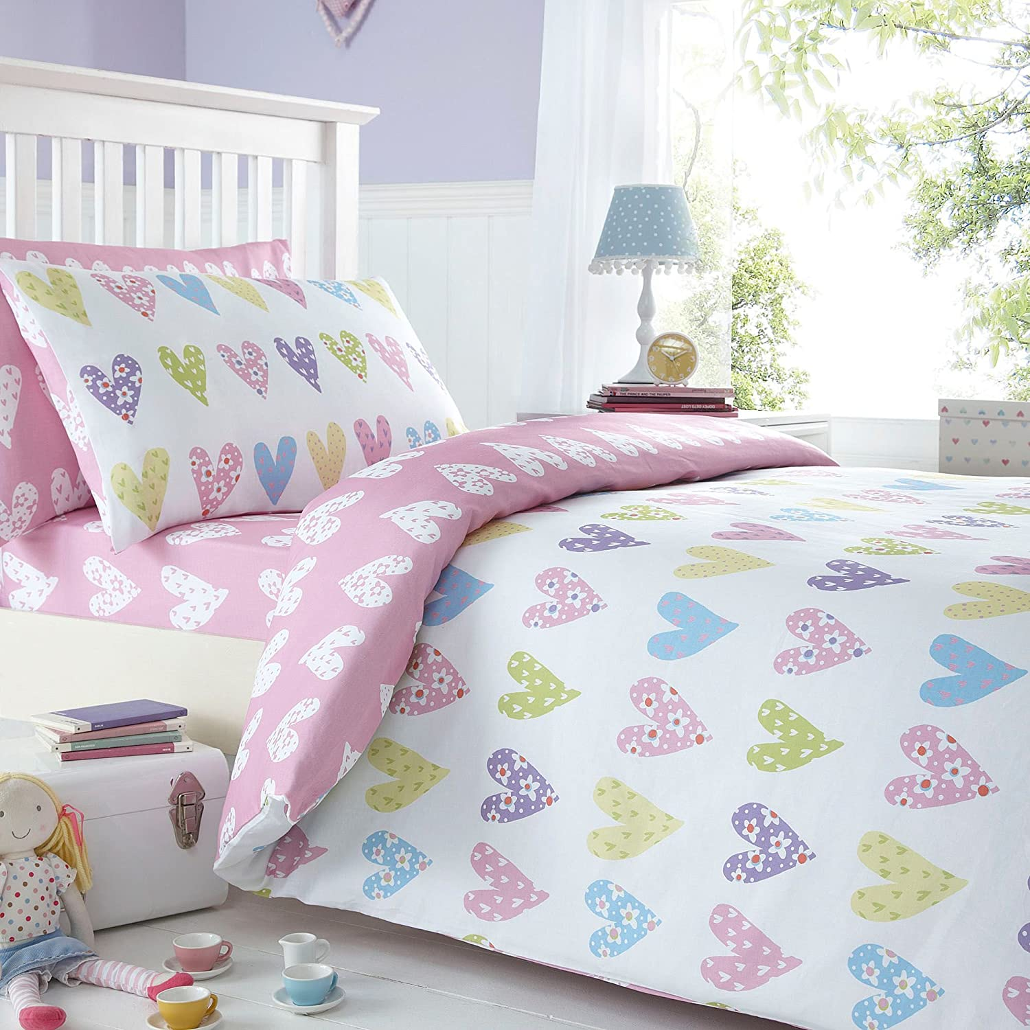 pink toddler bedroom pink print single duvet cover and matching 12889