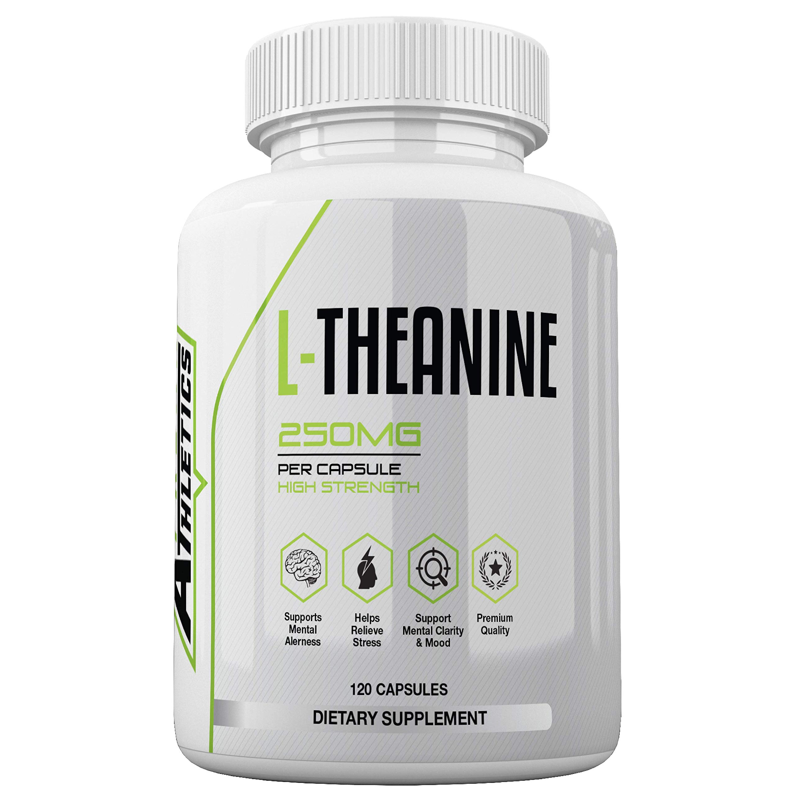 L Theanine Capsules 250mg - Premium Grade L Theanine Tablets by Freak Athletics - 120 Capsules - Suitable for Both Men & Women - Made in The UK High Quality Guaranteed
