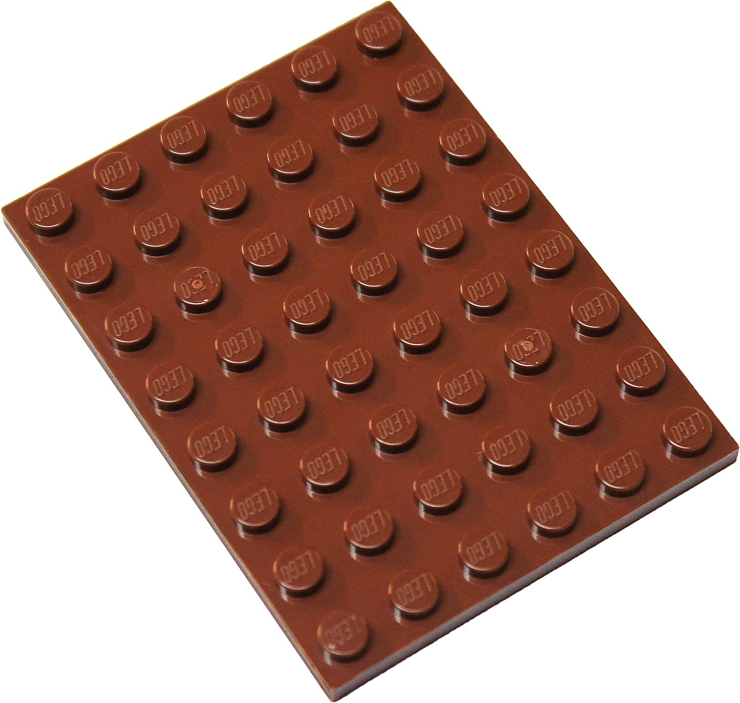 LEGO Parts and Pieces: Reddish Brown 6x8 Plate x4