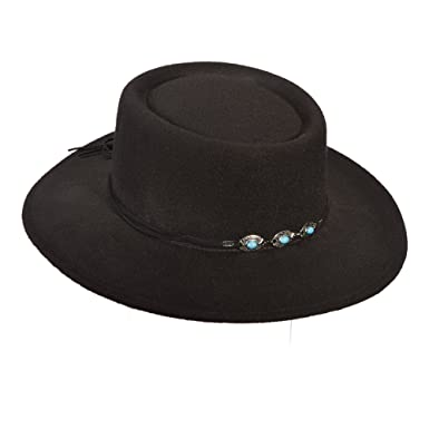 a4804042113f4 SCALA ULTRAFELT Gambler HAT (Black) at Amazon Women s Clothing store