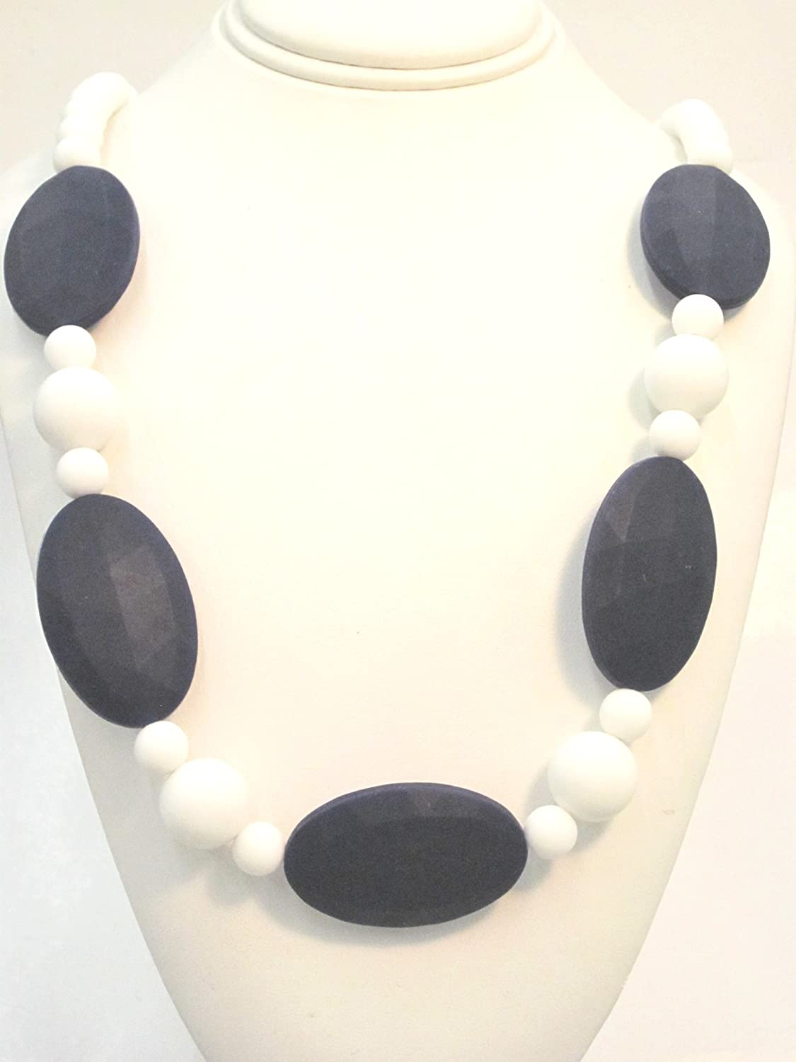 80cm  Hand Made Natural Wood /& BPA Free Silicone Nursing Teething Necklace