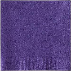 MM Foodservice 2- Ply Cocktail Napkins, Beverage Paper Napkins, Set of 250 (Purple)