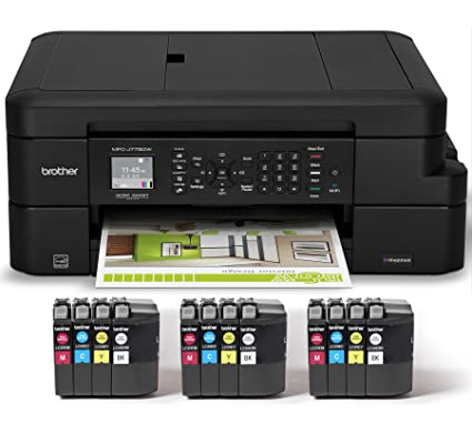 Brother MFC J775DW XL Extended Print INKvestment Compact Color Inkjet All In One
