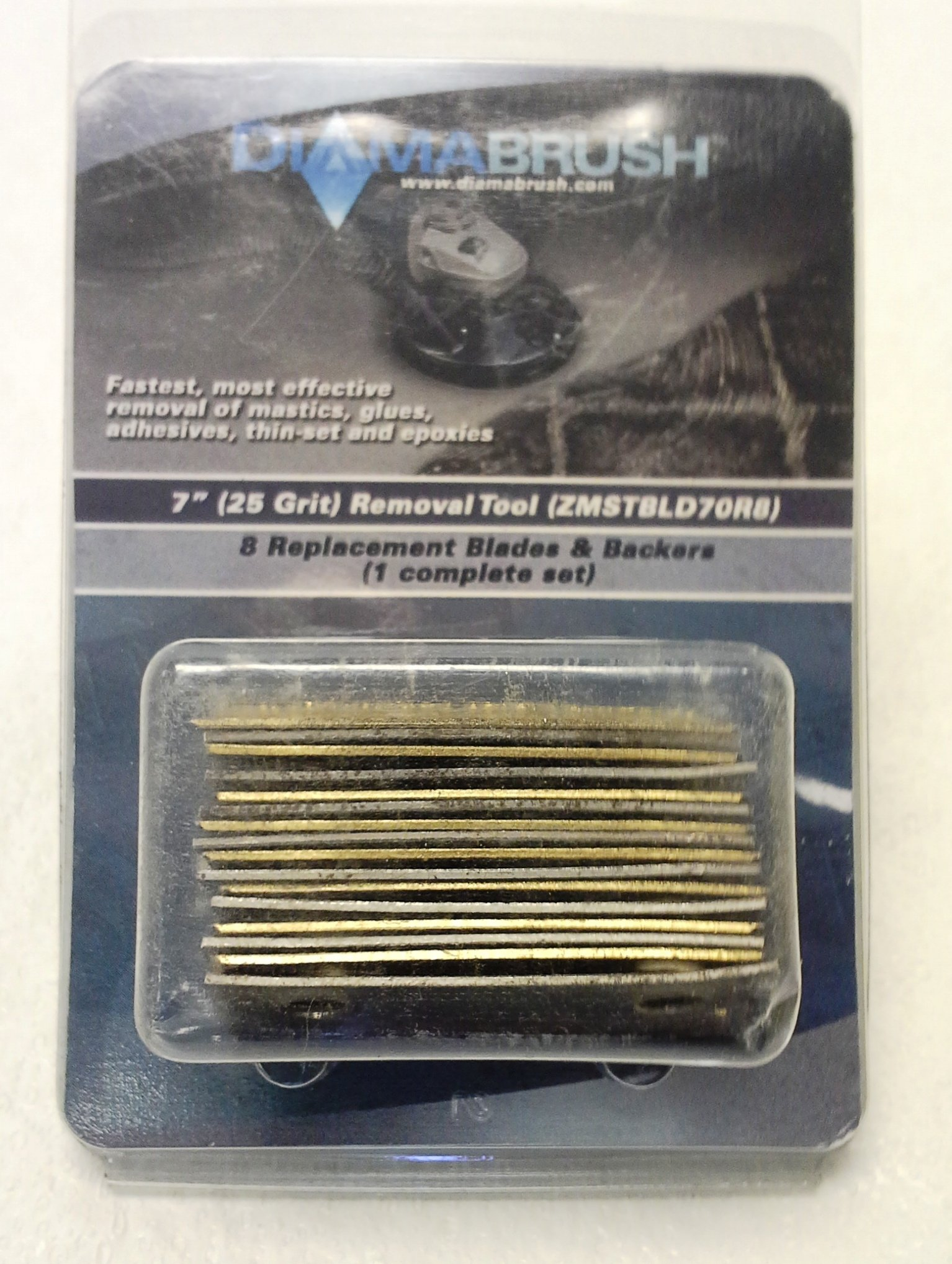 Diamabrush Removal Hand Tool Blades - 8 Blade - 25 Grit - zmstbld25r8rt70