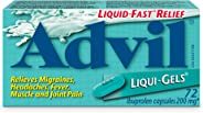 Advil  Liqui-Gels (72 Count) 200 mg ibuprofen, Temporary Pain Reliever / Fever Reducer