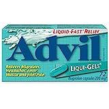 Advil Liqui-Gels (72 Count) 200 mg ibuprofen, Temporary Pain Reliever/Fever Reducer