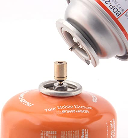 Cylinder Filling Butane Canister Gas Refill Adapter Outdoor Copper Camping New