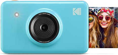 Kodak Mini shot 2 in 1 Wireless Instant Digital Camera and Social Media Portable Photo PRINTER LCD Display Black Compatible w//iOS and Android Premium quality Full Color prints