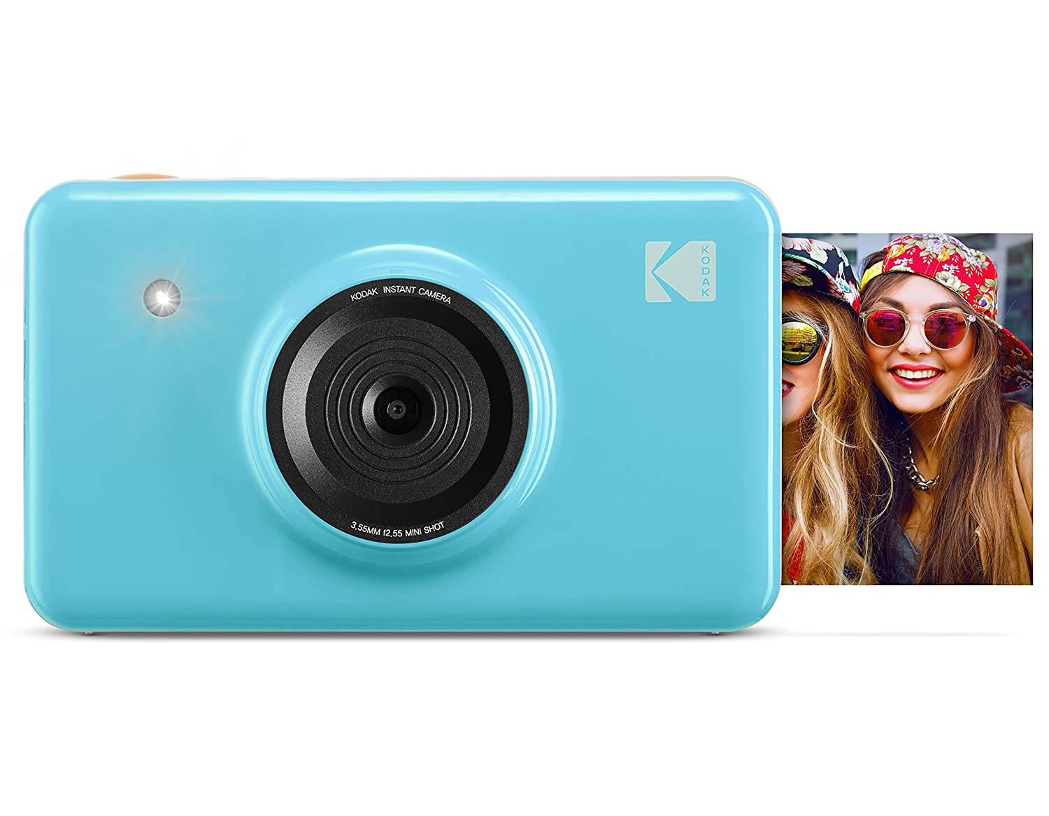KODAK Mini Shot Wireless Instant Digital Camera & Social Media Portable Photo Printer, LCD Display, Premium Quality Full Color Prints, Compatible w/iOS & Android (Blue) KOD-MSBL
