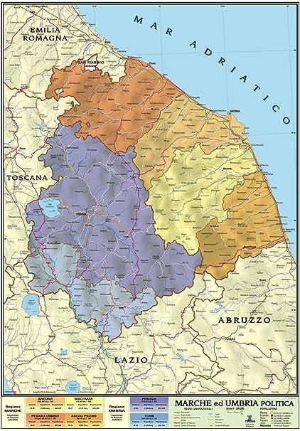Cartina Dell Abruzzo Fisica.Carta Geografica Murale Regionale Marche Umbria 100x140 Bifacciale Fisica E Politica Amazon It Cancelleria E Prodotti Per Ufficio