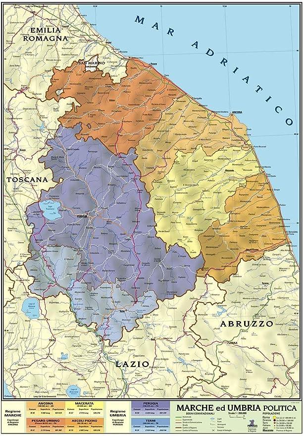 Cartina Molise Dettagliata.Carta Geografica Murale Regionale Marche Umbria 100x140 Bifacciale Fisica E Politica Amazon It Cancelleria E Prodotti Per Ufficio