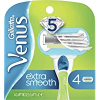 Gillette Venus Extra Smooth Women's Razor Blade (Venus Embrace) - 4 Refills ( Pack May Vary )