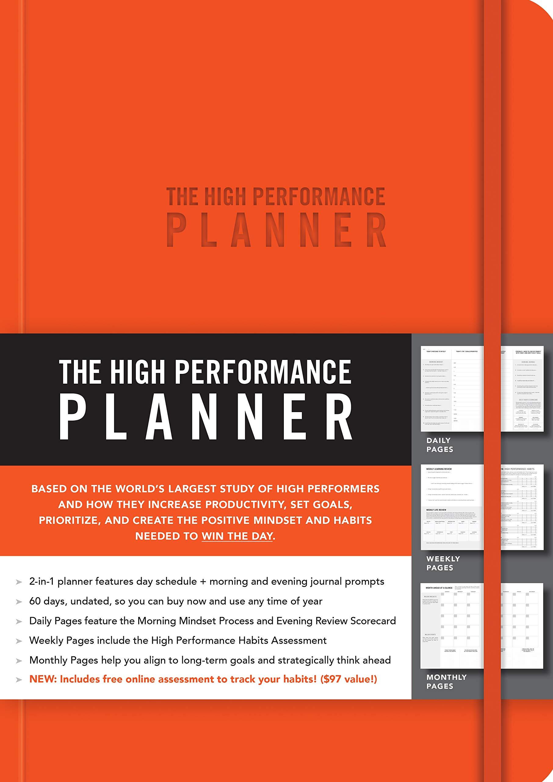 amazon com the high performance planner orange 9781401957346