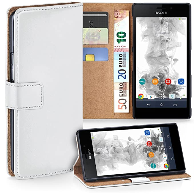 Amazon.com: moex Sony Xperia M2 | Phone Case with Wallet 360 ...