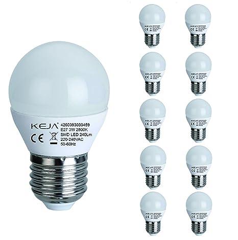 LED 3 W E27 bombillas LED G45 de la fábrica, bombillas halógenas 30 W equivalente